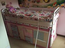 Children's Next Mid-Sleeper Metal Bed Frame Plus Stable Style Fabric Cover