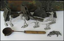 WWII ORIGINAL GERMAN COMPLETE DIES MATRIX SET FOR WEHRMACHT LEAD TOY SOLDIERS