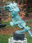 VERY SPECIAL SUBSTANTIAL VIOLINIST PURE BRONZE SCULPTURE 12 KILOS MODERN ART