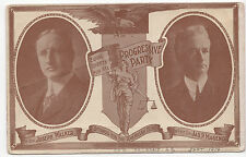 MA Progressive Party 1914 Candidates Post Card WALKER Magenis GARBUTT ~ SUFFRAGE