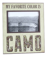 My Favorite Color is Camo Hunter Outdoorsman Camouflage 4x6 Photo Picture Frame