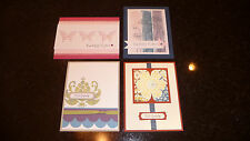 4 Hand Made Sympathy Cards with envelopes Stampin' Up 10 sets to choose from