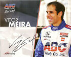 2011 VITOR MEIRA signed PHOTO CARD POSTCARD INDIANAPOLIS 500 IZOD INDY CAR wCOA