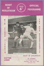 HEART OF MIDLOTHIAN V ST MIRREN 1969 PROGRAMME ORIG HAND SIGNED WITH 15 X SIGS