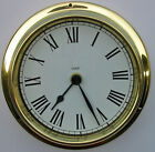 RADIO CONTROLLED ROMAN NUMERAL BRASS CASED CLOCK (Weighs approx. 1/2 Kg.)