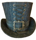 Steampunk madhatter Hand made black lace Top Hat