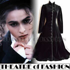 VINTAGE LAURA ASHLEY COAT DRESS 12 10 40 38 8 6 VELVET BLACK 40s VICTORIAN VAMP