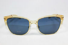 New Authentic TORY BURCH TY6032-1538/80 Pinot Crystal Gold/Dark Blue Sunglasses