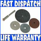 5PCE 22M CUTTING DISC SET FOR DREMEL TYPE ROTARY TOOLS WITH 3.1mm MANDRELS