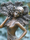 DECO FAN DANCER GENUINE PURE HOTCAST BRONZE SIGNED ALDO VITALEH SEE MY ITEMS