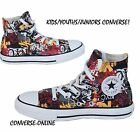 KIDS Boys Girl CONVERSE All Star MULTI GRAFFITI HI TOP Trainers Boots SIZE UK 11