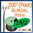 200' feet Direct Burial Outdoor Copper Speaker Wire 14/2awg - INW 14/2 - 200 BLK