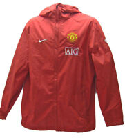 New NIKE MANCHESTER UNITED Football RAIN JACKET AIG Red M
