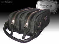 SAMSONITE BLACK LABEL TOILETRIES WASH KIT BAG Resort Signature Black AUTHENTIC