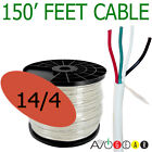 150 Feet 14/4, 14 Gauge 4 Conductor Premium Speaker Wire Cable FT4 UL AWG CL3