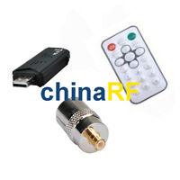 2 x DVB-T USB stick with FM+DAB RTL2832U+R820T and Antenna adapter TV-f to MCX-m