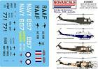 """ADF UH-1B, D&H Iroquois """"Huey"""" Decals 1/35 Scale N35063"""
