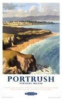 Irish Travel Art Poster Portrush, Northern Ireland