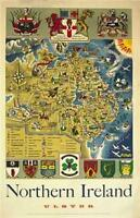 Irish Art Print Travel Poster. Ulster, Northern Ireland