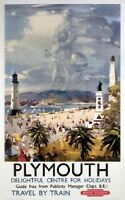 British Railways Travel Poster Print, Plymouth, England