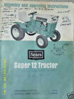 917.25311 Sears Super 12 Garden Tractor- Owners Manual on CD