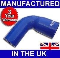 38mm to 32mm SILICONE 90 REDUCER ELBOW HOSE BLUE UK