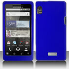 Rubber Blue Hard Case Cover for Motorola DROID 2 A955