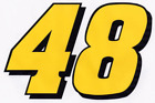 JIMMIE JOHNSON #48 Decal 4.25 x 3 racing nascar 003