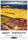 Great Yarmouth, Vintage Railway Travel Poster Art Print