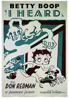 Vintage 1930's  Betty Boop Movie A3 Poster Reprint