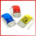 Bright 3 LED Hand Press Flash Light Flashlight Torch Re