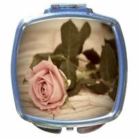 New Vintage Rose Makeup Compact Mirror