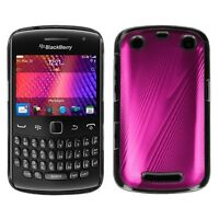 For BlackBerry Curve 9350 9360 9370 METAL COSMO Hard Case Phone Cover, Hot Pink