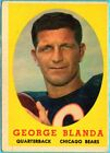 GEORGE BLANDA 1958 Topps #129 Chicago Bears / Kentucky Wildcats