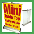 Mini Table Top Retractable Banner Stand A4 8.25x12.25