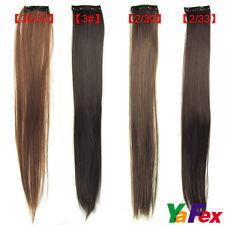 VERY Cheap New Fashion Womens Long Straight Clip On In Hair Extensions