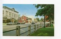 Lee MA Street View Old Cars VW Bug Vintage Store Fronts Postcard