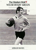 """Gerald Davies, Wales WESTERN MAIL """"Welsh Rugby Greats Collection"""" Rugby Card"""