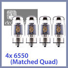 4x NEW Electro Harmonix 6550 EH 6550EH Power Vacuum Tubes, Matched Quad TESTED