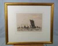 'Boulogne Fishing' Etching By William L. Wyllie (1851-1931), Signed