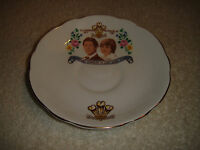 Regency Bone China Lady Diana & Prince Charles Commemorative Saucer-1981 Wedding