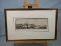 William L. Wyllie 1851-1931 Drypoint Etching Destroyers In The Atlantic Signed