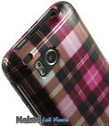NEW CUTE PINK PLAID HARD CASE COVER FOR VERIZON HTC THUNDERBOLT 4G ADR6400