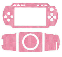 NEW PINK CARBON FIBER DECAL SKIN TATTOO SCREEN PROTECTOR FOR SONY PSP 1000