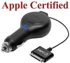 NEW CELLET RETRACTABLE CAR CHARGER FOR APPLE iPHONE 4S 4 3G 3GS 2G iPOD TOUCH 4G