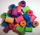 25 Bird Toy Parts Colored Wood Spools 3/4