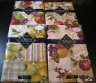 "FLANNEL-BACKED VINYL ""FRUITS"" TABLECLOTHS- ASSORTED PATTERNS & SIZES - NEW"