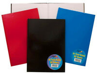 A4 A5 Plain Hardback Notebook NotePad Note Book Pad Ruled Feint Lined 160 Pages