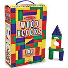 Melissa and Doug * 100 Wood Block Set * NEW classic toy wooden shapes colours
