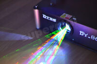 New! 1000mW 1Watt RGB Full Color Animation Laser Projector Stage Light ILDA DMX